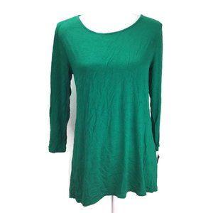 Alfani Women Tunic Sleeve Top Lush Meadow Green M